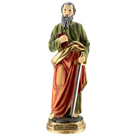 Statue of St. Paul in resin 30 cm s1