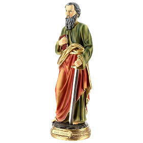 Statue of St. Paul in resin 30 cm s3