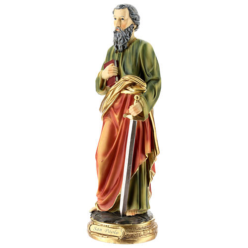 Statue of St. Paul in resin 30 cm 3