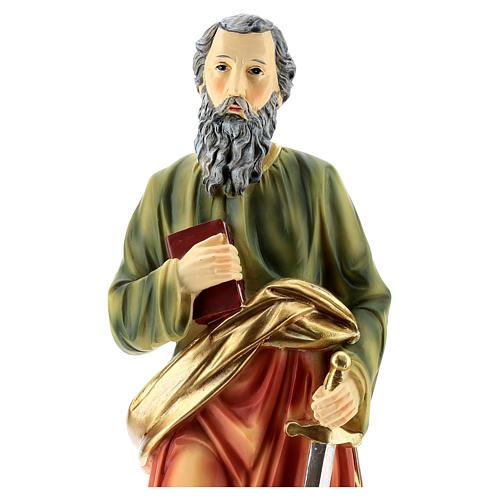 San Paolo statua resina di 30 cm 2