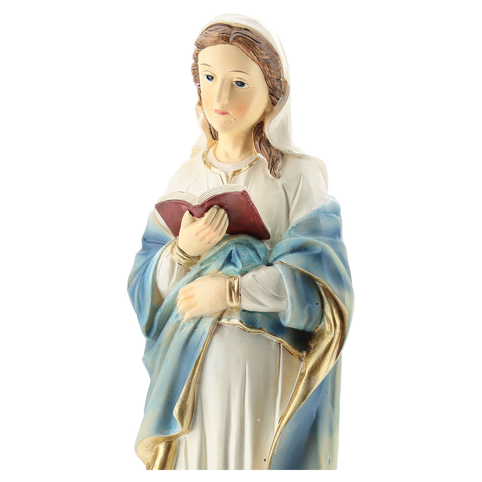 Statue of the pregnant Virgin Mary in resin 30 cm 4