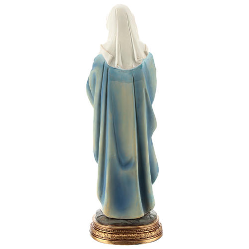 Statue of the pregnant Virgin Mary in resin 30 cm 5