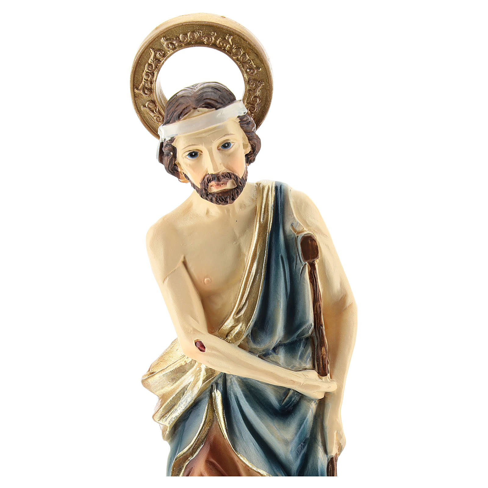 Statue of St. Lazarus in resin 20 cm 4