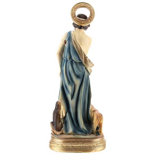 Statue of St. Lazarus in resin 20 cm 6