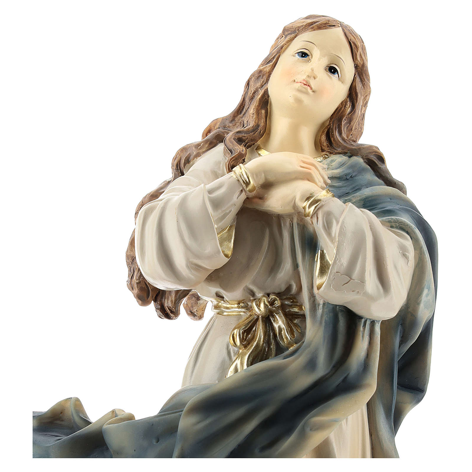 Statue of the Immaculate Murillo in resin 32 cm 4