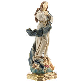 Statue of the Immaculate Murillo in resin 32 cm s5