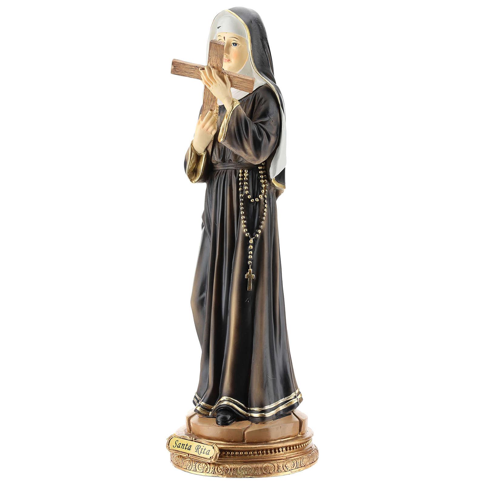 Statue de Sainte Rita résine 42 cm 4