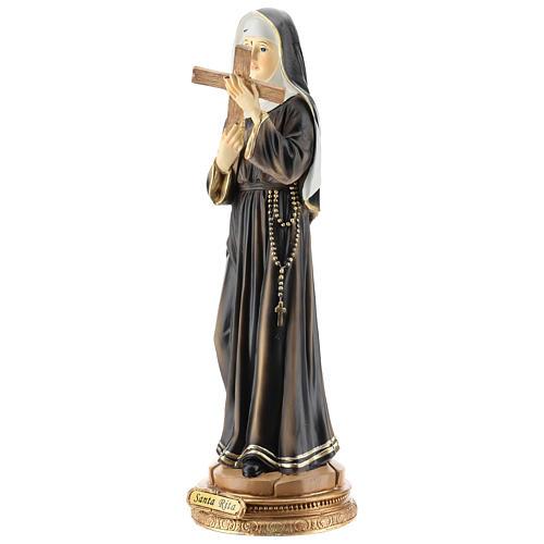 Statue de Sainte Rita résine 42 cm 3
