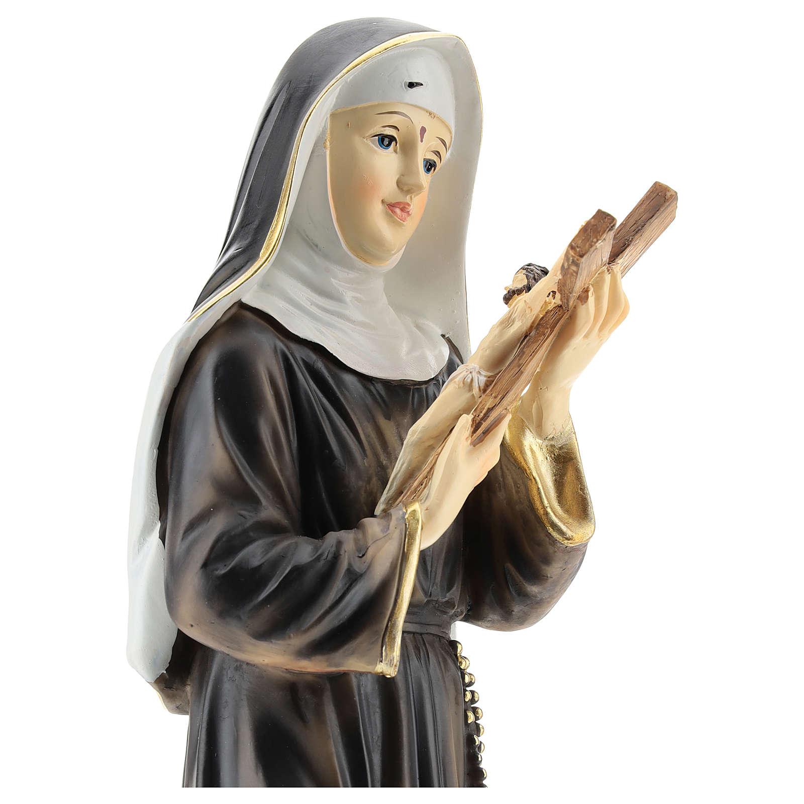 Statua di Santa Rita resina 42 cm 4
