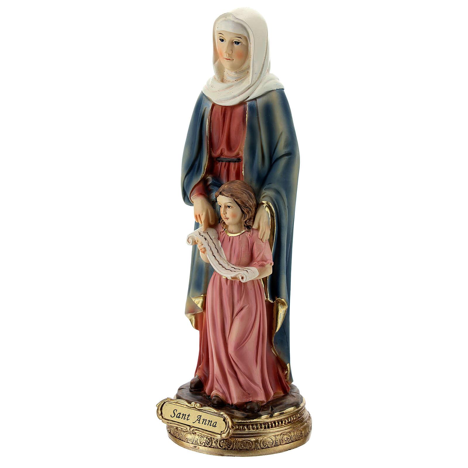 Estatua de Santa Ana y María resina 20 cm 4