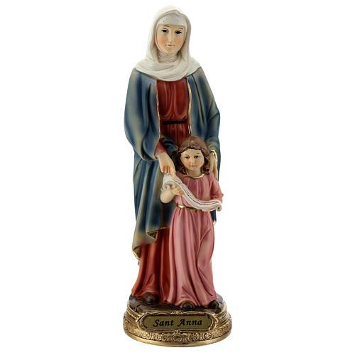 Statua di Sant'Anna e Maria resina 20 cm 1