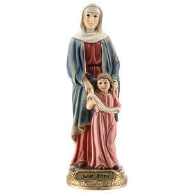 San Giorgio uccide il drago statua resina 20 cm s6