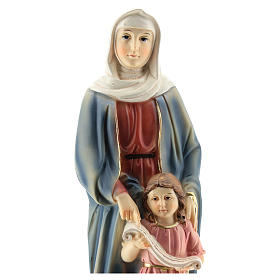 San Giorgio uccide il drago statua resina 20 cm s7