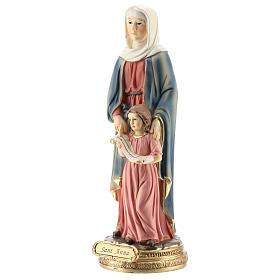 San Giorgio uccide il drago statua resina 20 cm s8