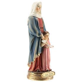 San Giorgio uccide il drago statua resina 20 cm s9