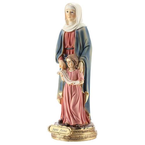 San Giorgio uccide il drago statua resina 20 cm 8