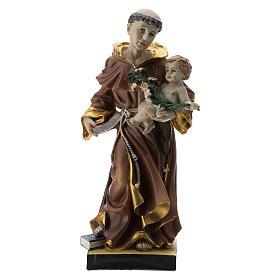 Statue St Antoine 20 cm résine s1