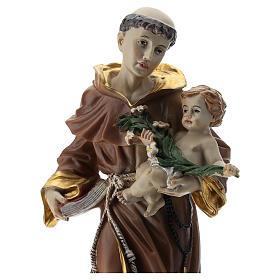 Statue St Antoine 20 cm résine s2