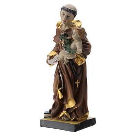 Statue St Antoine 20 cm résine s3