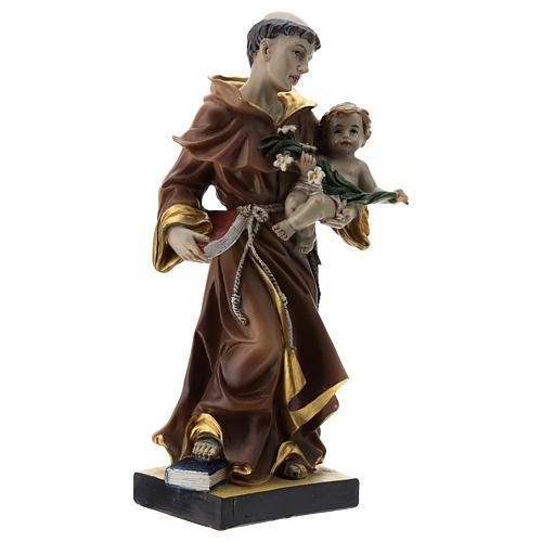 Statue St Antoine 20 cm résine 4