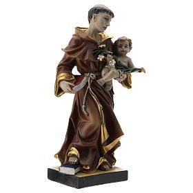 Statua S. Antonio 20 cm resina s4