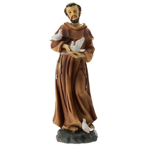 Statue St François résine 30 cm 1