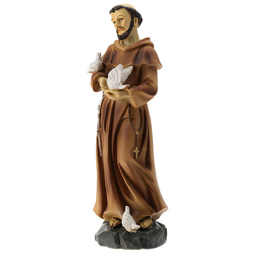 Statue St François résine 30 cm 3