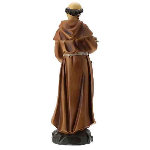 Statue St François résine 30 cm 5