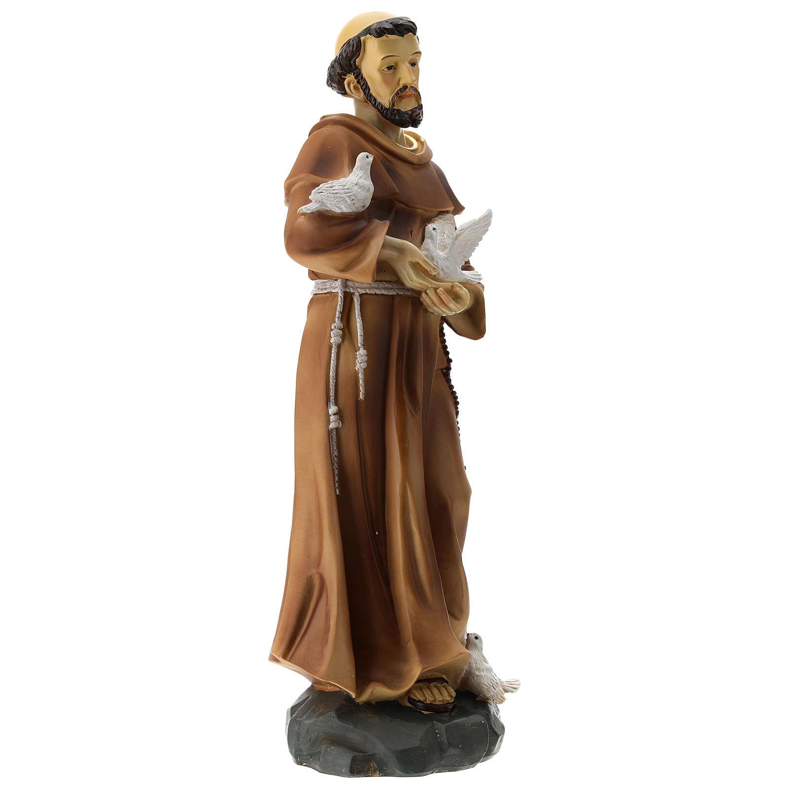 Statua S. Francesco resina 30 cm 4