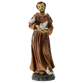 Statua S. Francesco resina 30 cm s1