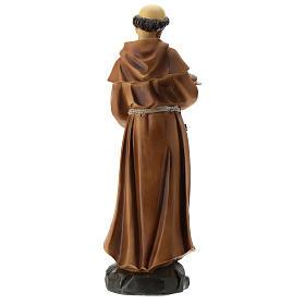 Statua S. Francesco resina 30 cm s5