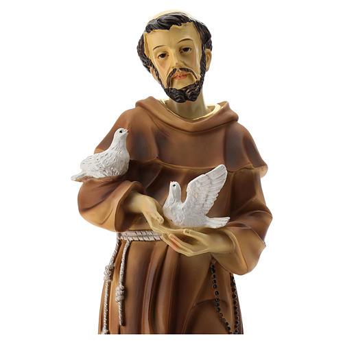 Statua S. Francesco resina 30 cm 2