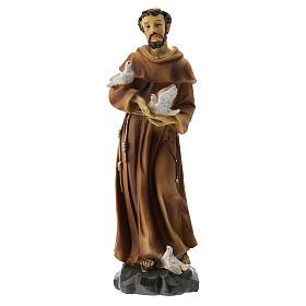 Statue résine St François 20 cm s1