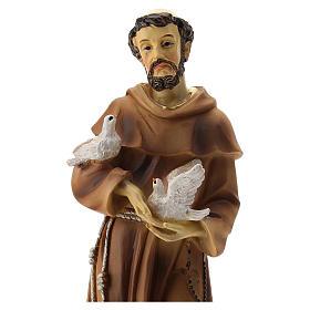 Statue résine St François 20 cm s2