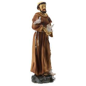 Statue résine St François 20 cm s4