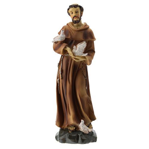 Statue résine St François 20 cm 1