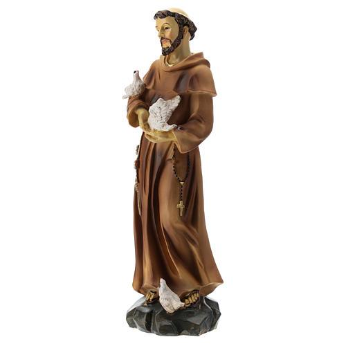 Statue résine St François 20 cm 3