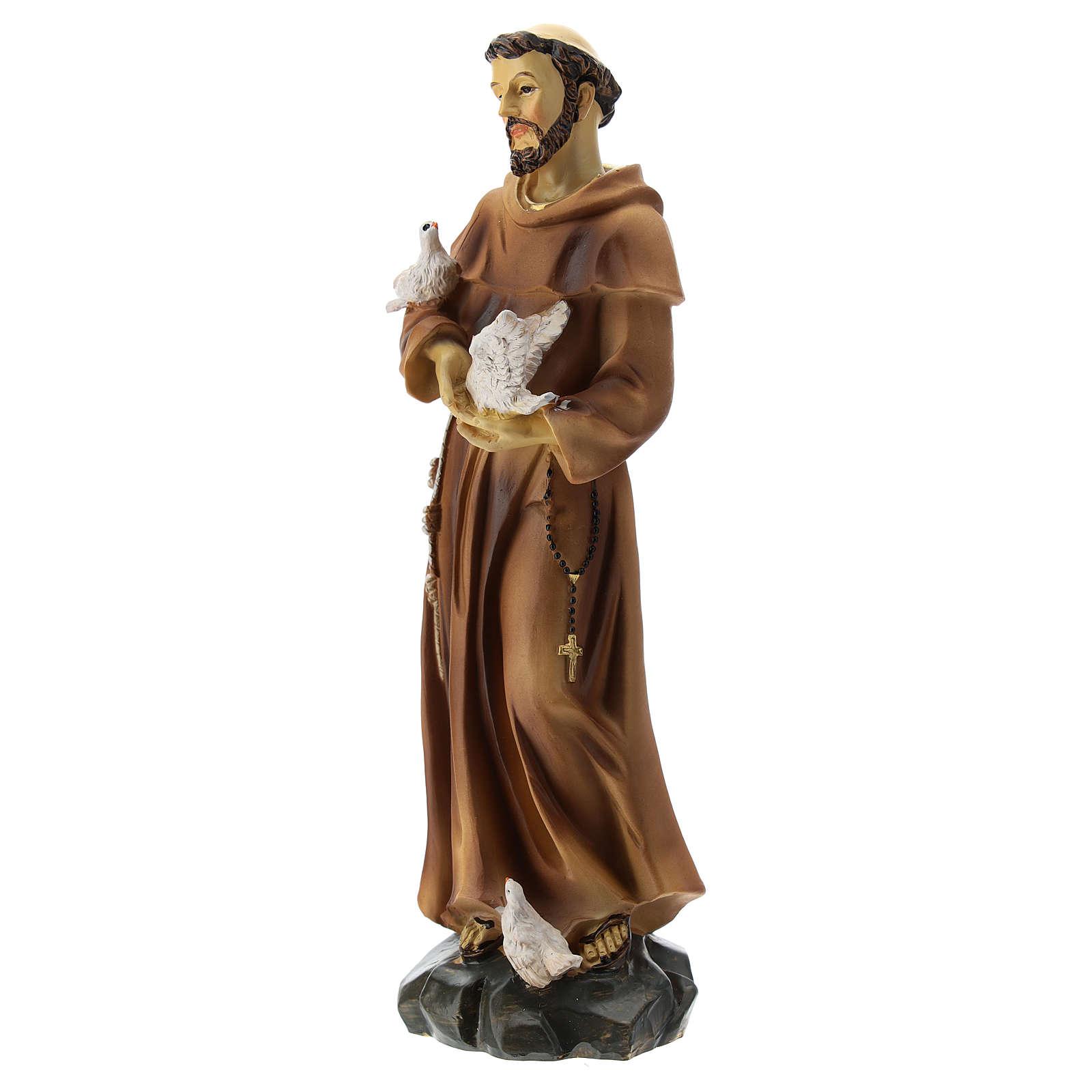 Statua resina S. Francesco 20 cm 4