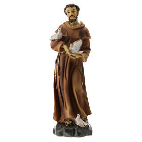 Statua resina S. Francesco 20 cm s1