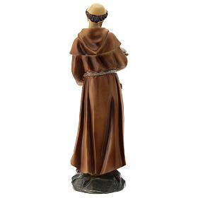 Statua resina S. Francesco 20 cm s5