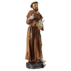 St Francis resin statue 20 cm s4