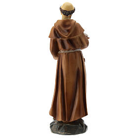 St Francis resin statue 20 cm s5