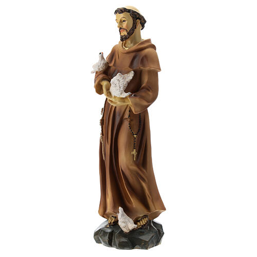 St Francis resin statue 20 cm 3