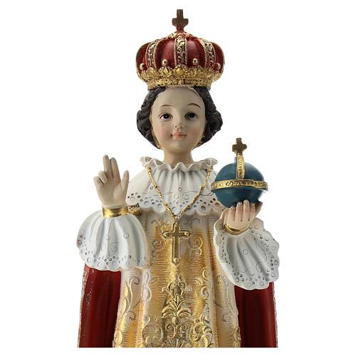 Estatua Niño de Praga resina 30 cm 2