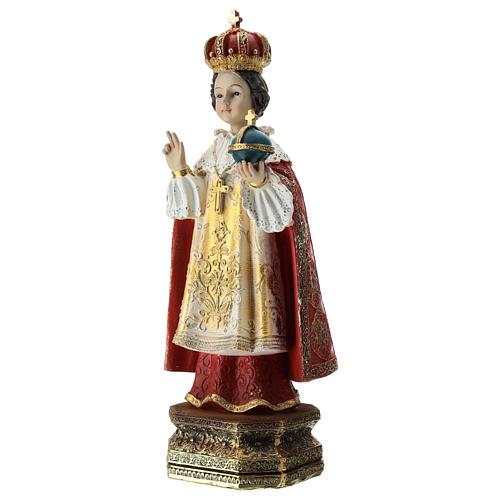Statue Enfant Jésus de Prague résine 30 cm 3