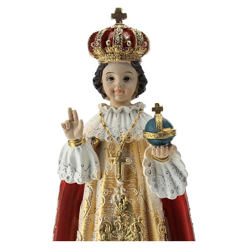 Estatua resina Niño de Praga 20 cm 2