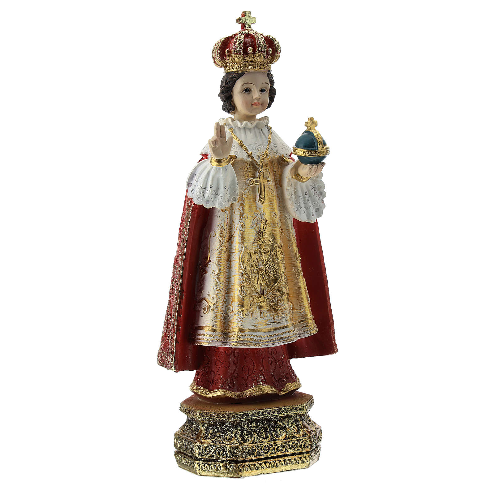 Statua resina Bambino di Praga 20 cm 4