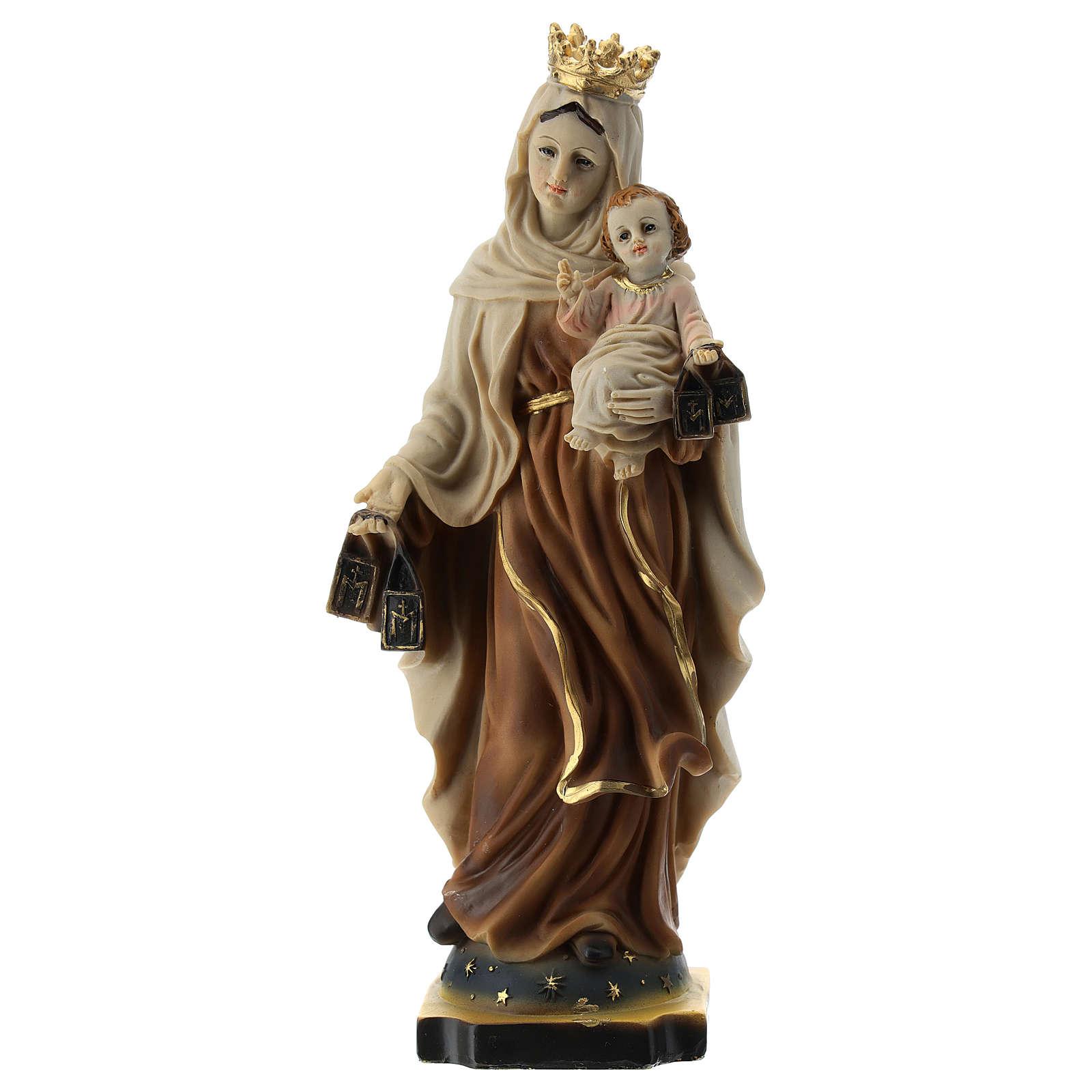 Estatua Virgen del Carmen resina 20 cm 4