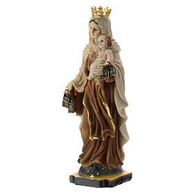 Statua Madonna del Carmine resina 20 cm s2