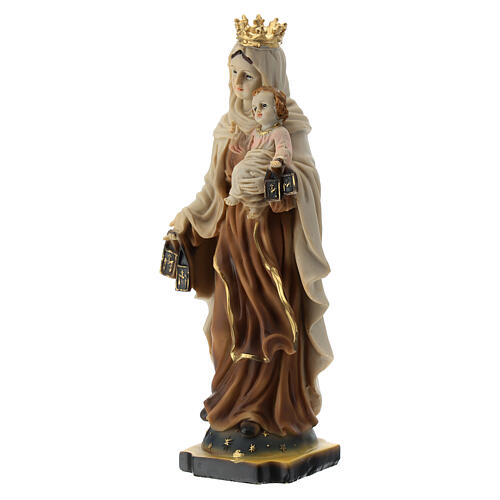Statue Our Lady of Mount Carmel resin 20 cm 2